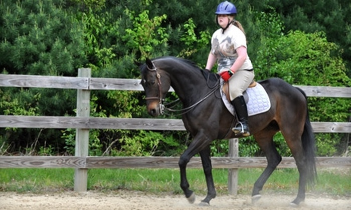 Anne Benson Stables - Portsmouth: $45 for Two Private Horseback-Riding Lessons at Anne Benson Stables in Portsmouth ($90 Value)
