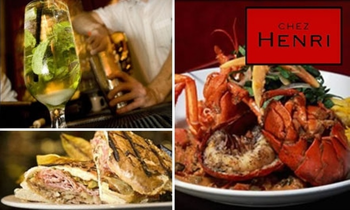 Chez Henri - Neighborhood Nine: $20 for $40 Worth of Upscale French and Latin Fusion Cuisine at Chez Henri