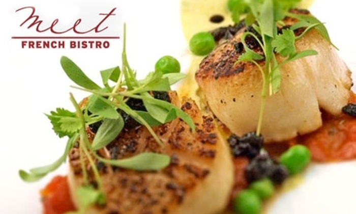 Meet French Bistro - Lucerne - Higuera: $25 for $50 Worth of Cuisine and Drinks at Meet French Bistro