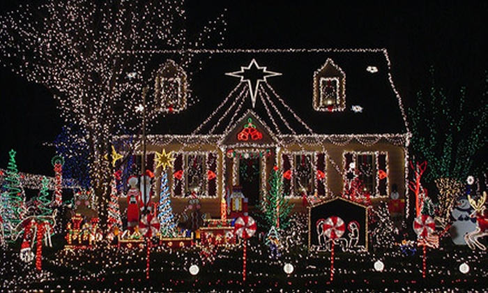 Polar Express Handyman Division - Owasso: $25 for Two Hours of Christmas-Lights Installation or Snow Removal from Polar Express Handyman Division ($100 Value)