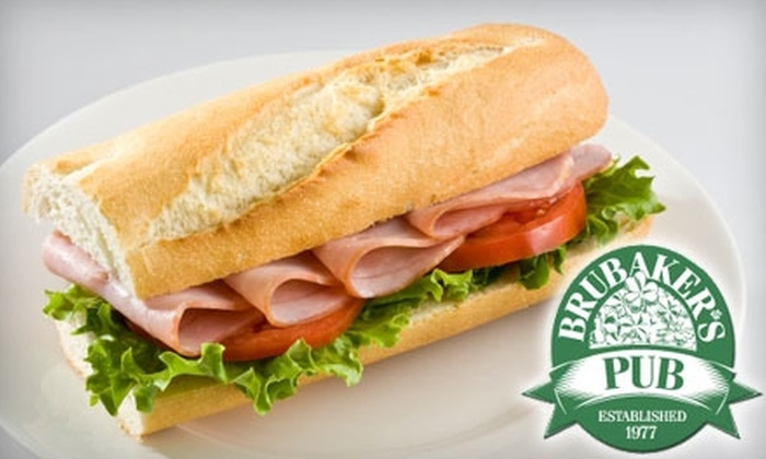 Brubaker's Pub - Multiple Locations: $10 for $20 Worth of Pub Fare and Drinks at Brubaker's Pub