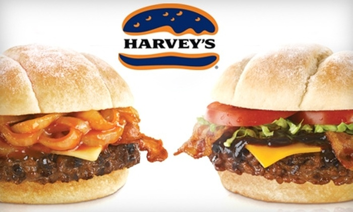 Harvey's - Multiple Locations: $6 for Two Great Canadian Bacon Cheeseburgers at Harvey's ($13.58 Value)
