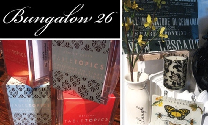 Bungalow 26 - Delano: $10 for $20 Worth of Bath and Body Products, Home-Décor Items, and Eclectic Gifts at Bungalow 26