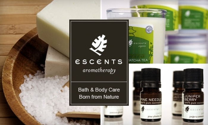 Escents Aromatherapy - Multiple Locations: $20 for $40 Worth of Natural Bath and Body Products at Escents Aromatherapy