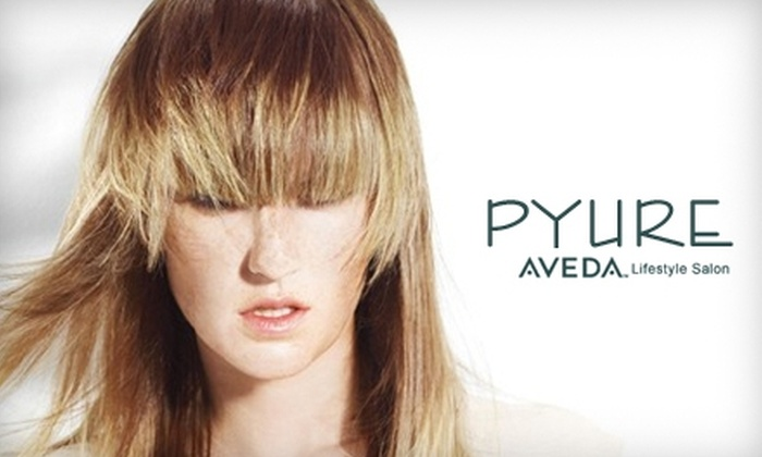 Pyure Aveda Salon - Multiple Locations: $59 for $130 Worth of Hair Services at Pyure Aveda Salon