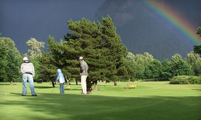 Beacon Rock Golf Course - North Bonneville: $78 for 18-Hole Round for Four Plus Two Carts at Beacon Rock Golf Course in Bonneville (Up to $156 Value)