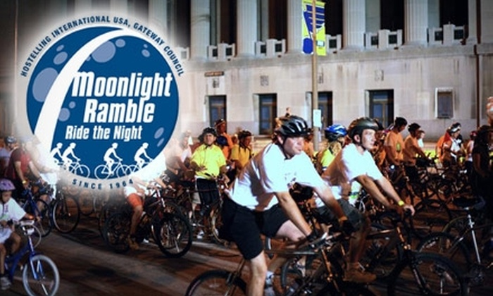 Gateway Council of Hostelling International - St Louis: $62 for a Premier Rider Package to the Moonlight Ramble from Gateway Council of Hostelling International ($125 Value)