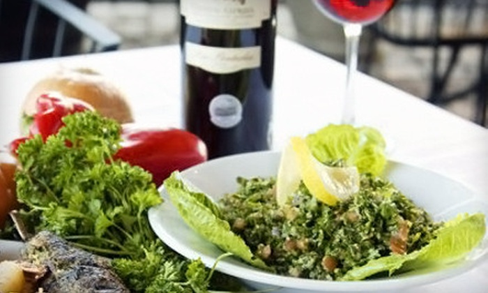 Khoury's Mediterranean Restaurant - Rhodes Ranch: $21 for Lebanese Dinner for Two with Entrees and Wine at Khoury's Mediterranean Restaurant (Up to $43 Value)