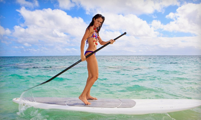 Miami Water Sports - Star, Palm and Hibiscus Islands: One- or Two-Hour Standup Paddleboard Rental from Miami Water Sports in Miami Beach (Up to 62% Off)