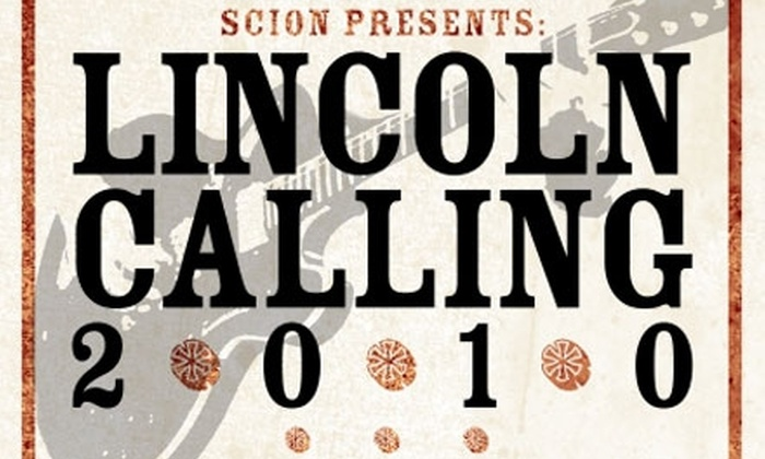 Lincoln Calling Music Festival - Multiple Locations: All-Access Pass to Lincoln Calling Music Festival (Up to $50 Value). Two Options Available.
