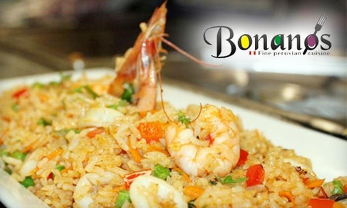 Bonanos Fine Peruvian Cuisine - San Buenaventura (Ventura): $15 for $30 Worth of Peruvian Fare and Drinks at Bonanos Fine Peruvian Cuisine