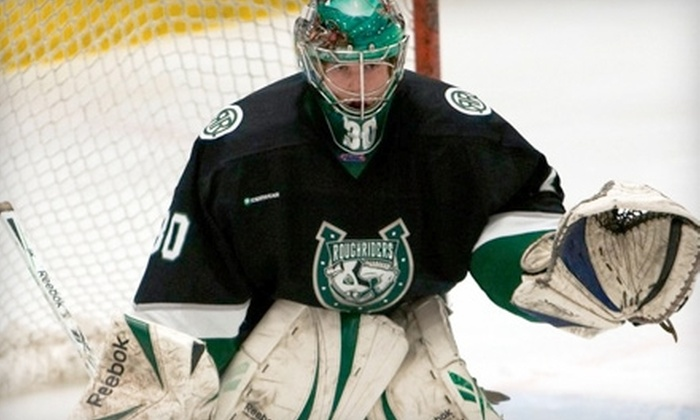 Cedar Rapids RoughRiders - Taylor: $20 for One Luxury Suite Ticket, Four Chuck-A-Pucks, and Program for RoughRiders vs. Youngstown on March 25 ($41 Value)