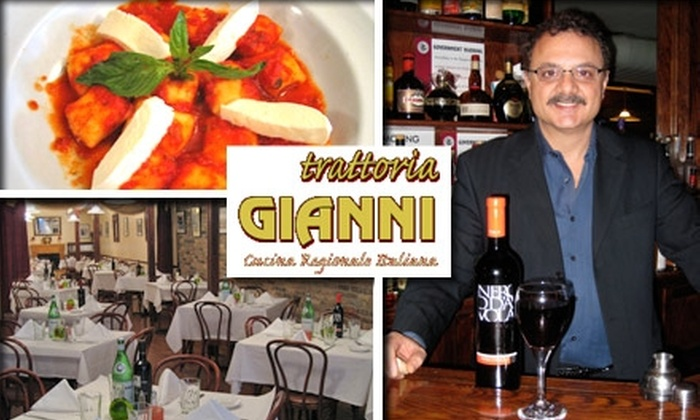 Trattoria Gianni - Chicago: $20 for $55 Worth of Regional Italian Cuisine and Drinks at Trattoria Gianni