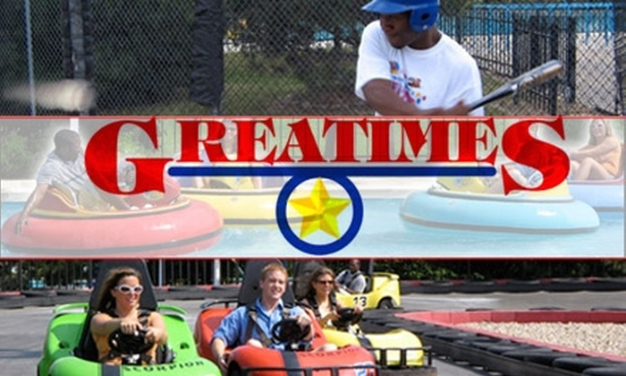 Great Times - Beech Grove: $10 for Any Three Attractions, a Pizza Slice and Soft Drink, and 40 Tokens at Great Times Fun Park
