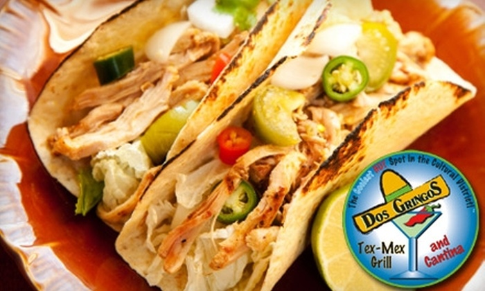 Dos Gringos - Cultural District: $10 for $20 Worth of Tex-Mex Fare and Drinks at Dos Gringos