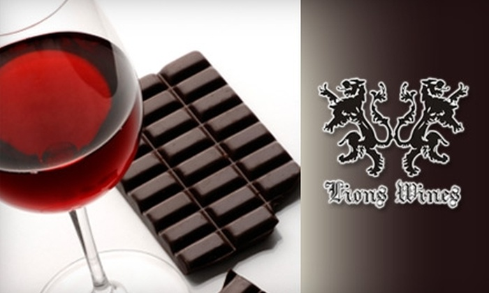 Lions Wines Cellar: $79 for Wine and Chocolate Pairings from Lions Wines Cellar ($181.82 Value)