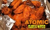 Atomic Subs & Wings - Fielder Park: $10 for $20 Worth of Sandwiches, Wings, and More at Atomic Subs & Wings in Arlington