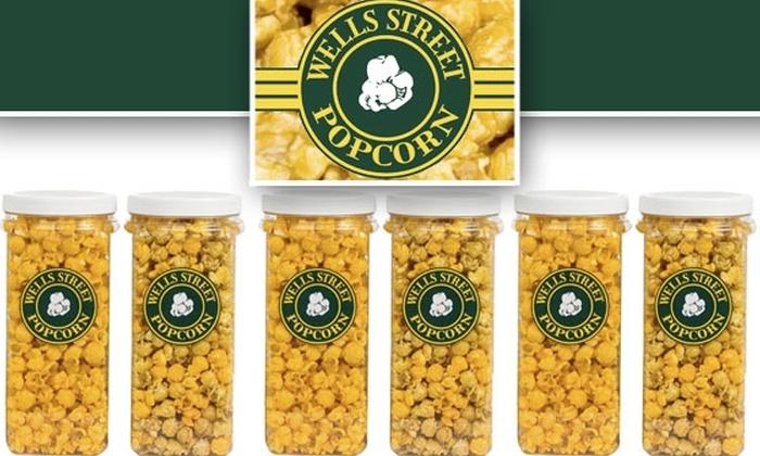 Wells Street Popcorn  - Oak Park: Two-Pack Canister of Wells Street Popcorn for $11