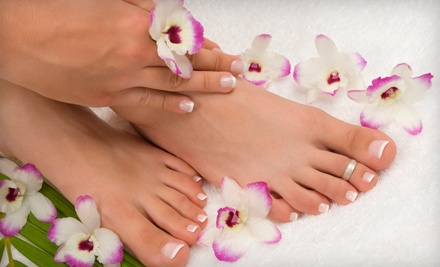 1 Signature Spa Pedicure and 1 Manicure (an $82 value) - Nu Waves Salon & Day Spa in Blue Bell