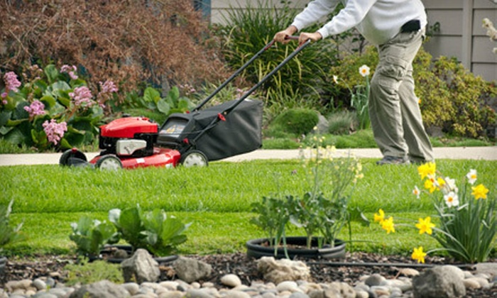 Joco Lawn & Turf - Kansas City: Three Hours of Yard Cleanup or Four Weeks of Lawn Mowing from Joco Lawn & Turf (Up to 57% Off)