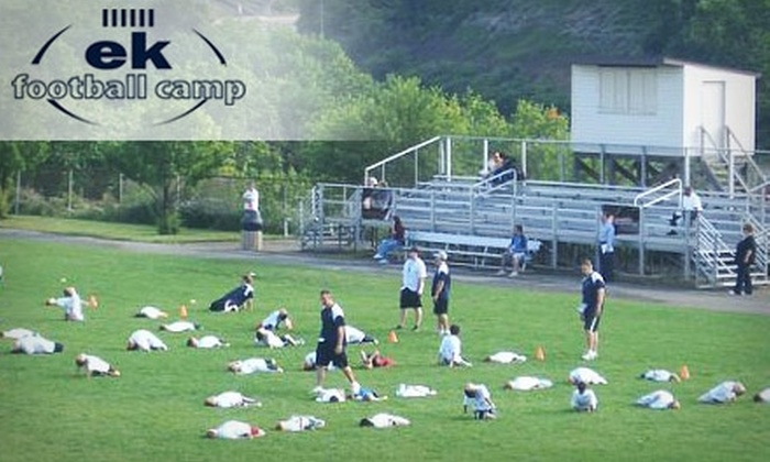EK Football Camp - Franklin Park: $90 for One Week of Youth Football Camp and a $5 Voucher for the Concession Stand at EK Football Camp ($190 Value)