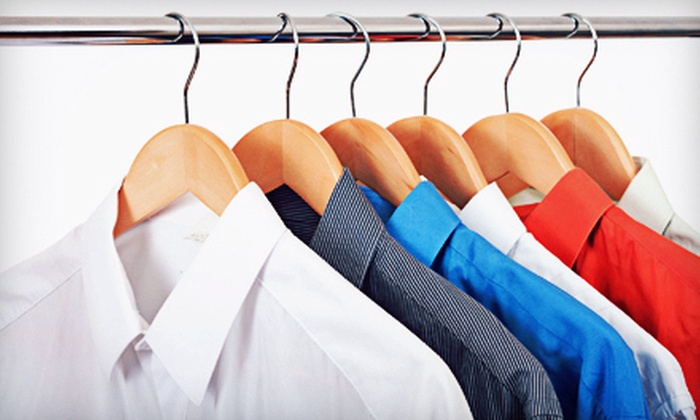 Mr. J's Cleaners, Saturn Cleaners, & Excellent Cleaners - Multiple Locations: $15 for 10 Pieces of Dry Cleaning at Mr. J's Cleaners ($32.50 Value). Five Locations Available.