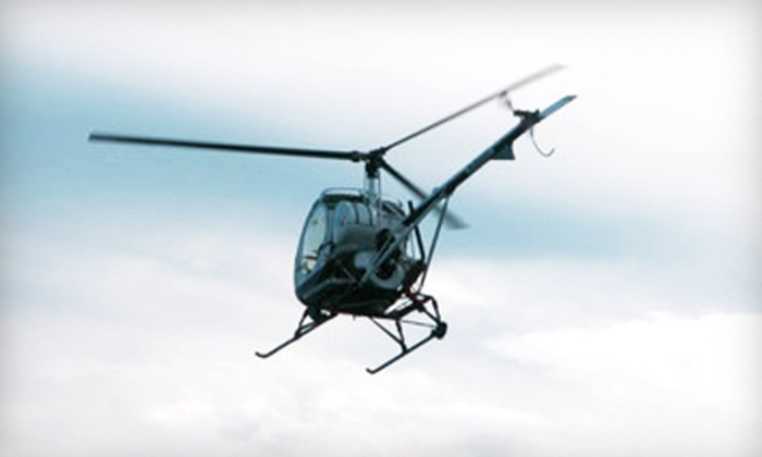 New England Helicopter Academy - Multiple Locations: $119 for 50-Minute Introductory Flight Lesson from New England Helicopter Academy in Plymouth or Norwood ($238 Value)