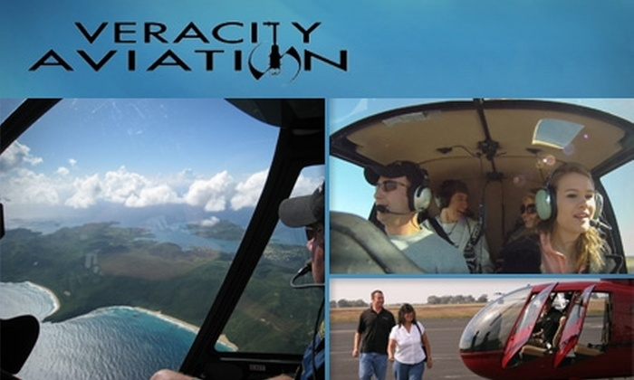 Veracity Aviation - New Braunfels: $119 Helicopter Lesson for One or Tour for Three from Veracity Aviation in New Braunfels