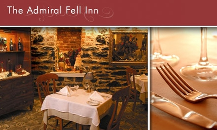 Admiral Fell Inn - Baltimore: $32 Valentine's Dinner at the Admiral Fell Inn ($65 Value)