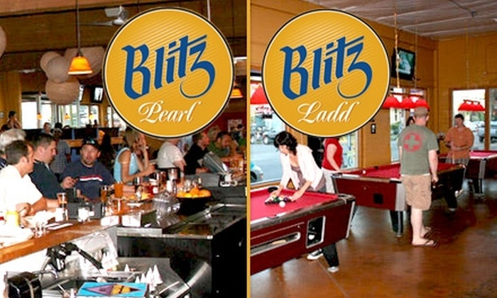 Blitz Ladd or Blitz Pearl - Multiple Locations: $10 for $20 Worth of Bar Drinks and Eats at Either Blitz Ladd or Blitz Pearl