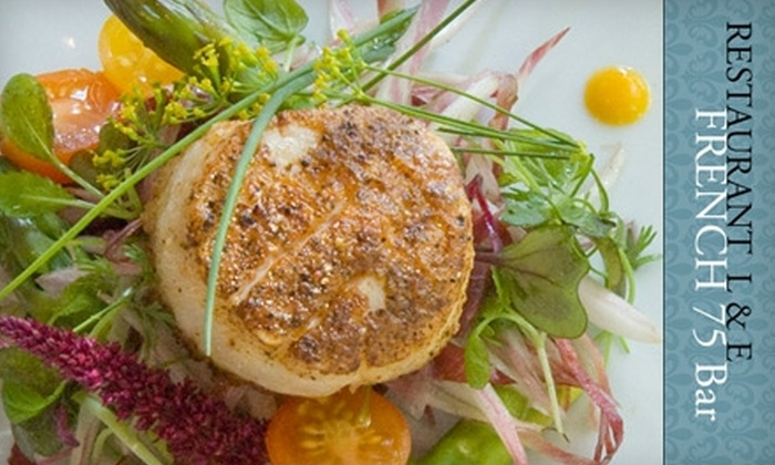 L & E - Chester: $25 for $50 Worth of Fine French Dining at Restaurant L & E in Chester