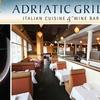 Half Off at Adriatic Grill