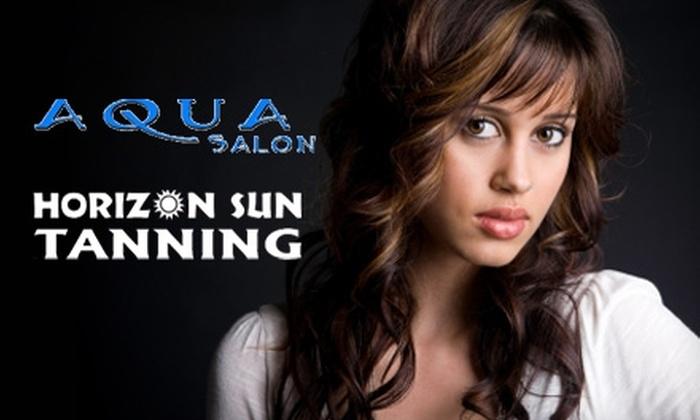 Aqua Salon & Horizon Sun Tanning - Black Mountain: Services at Aqua Salon & Horizon Sun Tanning in Henderson. Choose Between Two Options.