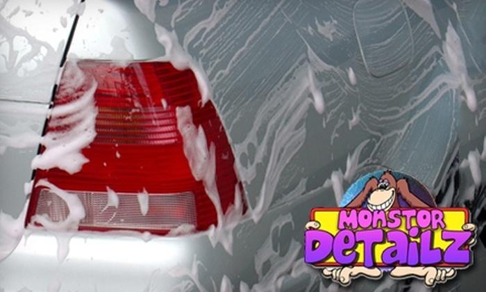 Monstor Detailz - Downtown Tulsa: $12 for a Custom Car Wash from Monstor Detailz ($25 Value)