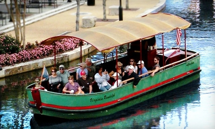River District Canal Cruises - Shockoe Slip: $6 for Two Adult Tickets for a Boat Cruise with River District Canal Cruises (Up to $12 Value)
