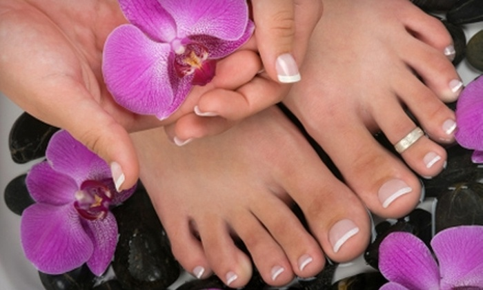 Taylor Lane & Co. Day Spa - Deerwood: $30 for a Manicure and Signature Pedicure with Reflexology Massage at Taylor Lane & Co. Day Spa ($65 Value)