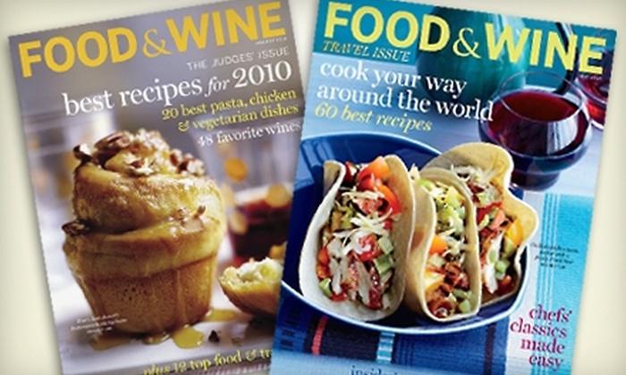 "Food & Wine Magazine: $12 for 15 Issues of ""Food & Wine"" Magazine"