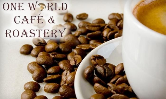 One World Café & Roastery - City Centre: $4 for $8 Worth of Coffee and Café Fare at One World Café & Roastery