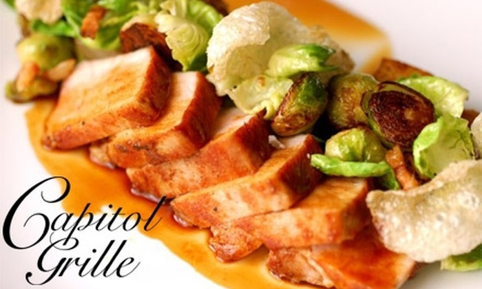 Capitol Grille - Downtown Nashville: $30 for $60 Worth of Contemporary Southern Dinner Cuisine and Drinks at Capitol Grille