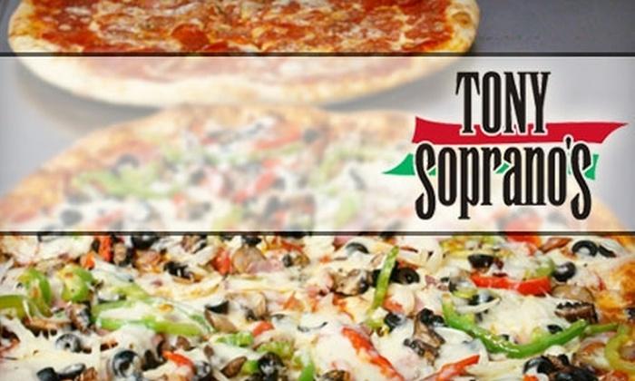 Tony Soprano's - North San Jose: $10 for $25 Worth of New York–Style Pizza and Italian Fare at Tony Soprano's