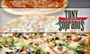 $10 for Pizza and More at Tony Soprano's