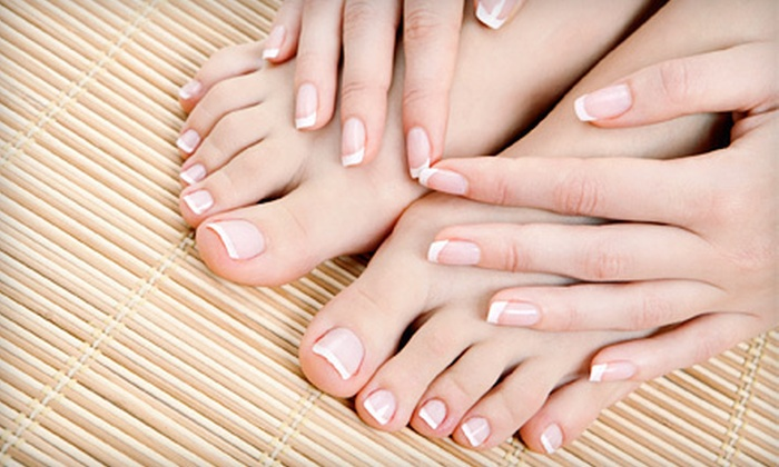 Divine Hair and Color Salon - Orland Hills: Spa Mani-Pedis with Reflexology for One or Two at Divine Hair and Color Salon in Tinley Park (Up to 57% Off)