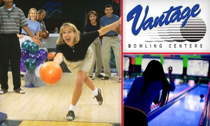 Vantage Bowling Center‎s - Multiple Locations: $5 for Two Games of Bowling Plus One Pair of Rental Shoes at Vantage Bowling Centers (Up to $11 Value). Choose One of Five Locations.