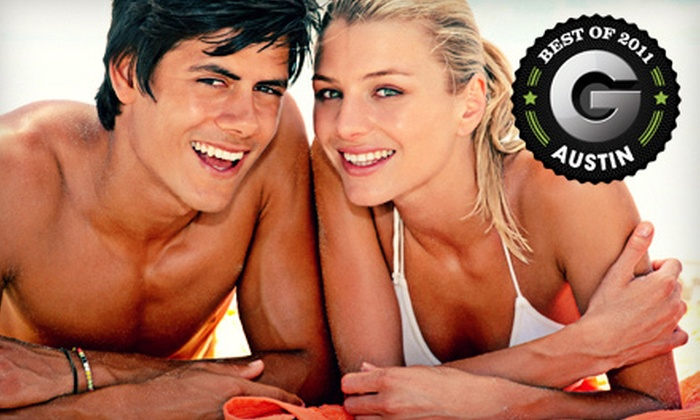 Darque Tan - Multiple Locations: Five UV-Tanning Sessions, Two VersaSpa Tanning Sessions, or Three Mystic Tan Sessions at Darque Tan (Up to 83% Off)