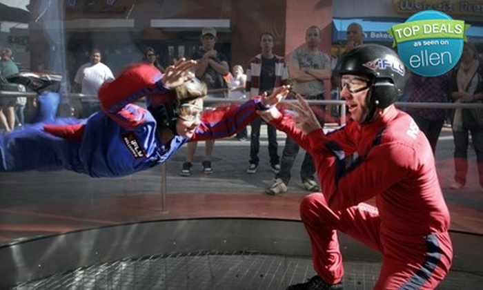 iFly Hollywood - Studio City: $43 for Wind-Tunnel Flight and DVD at iFly Hollywood in Universal City ($87 Value)