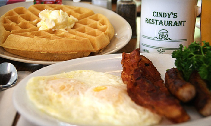 Cindy's Restaurant - Davis: $10 for $20 Worth of American Breakfast Fare and Authentic Thai Cuisine at Cindy's Restaurant in Davis