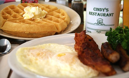 $20 Groupon for American Breakfast Fare or Authentic Thai Cuisine - Cindy's Restaurant in Davis