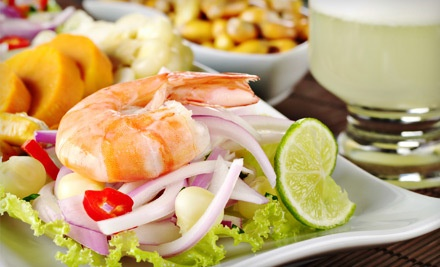 Peruvian Meal for 2 with Choice of One Appetizer and Two Entrees - El Hueco in Redwood City, CA