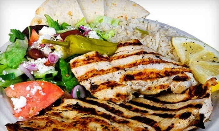 The Fat Greek - Yucaipa: $10 for $20 Worth of Greek Cuisine and Drinks at The Fat Greek