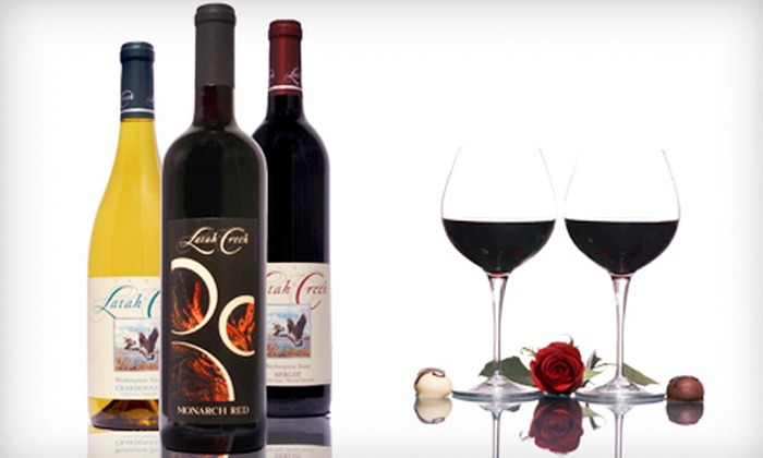 Latah Creek Wine Cellars - Spokane Valley: $24 for a Three-Bottle Package of Merlot, Chardonnay, and Monarch Red Reserve at Latah Creek Wine Cellars ($48 Value)